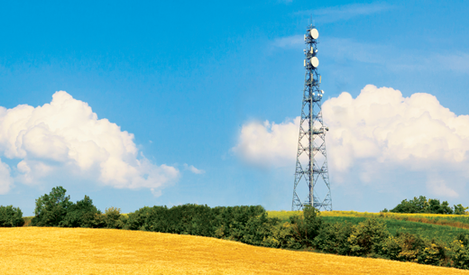 Wireless tower with wireless equipment